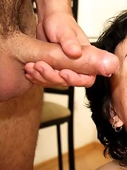 His young cock is destined to be inside her ancient pussy and it's a lot of fun to watch